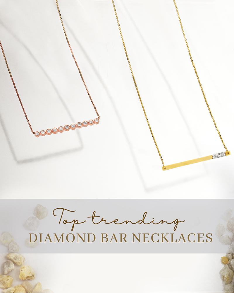 bar necklaces for her with certified vvs diamonds