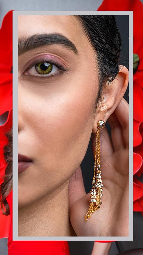 22k gold drop earrings