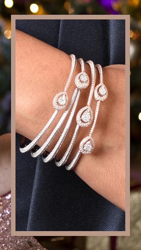 VVS contemporary diamond necklace