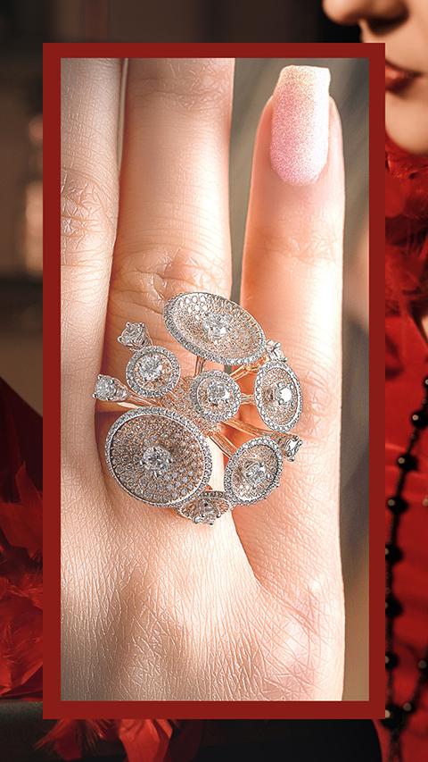 VVS contemporary diamond ring