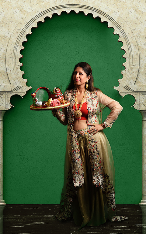 dhoti jacket look for karva chauth